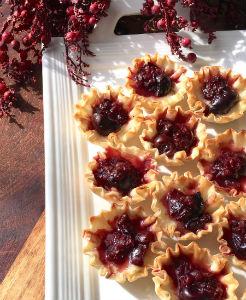 Dark Cherry & Brie Puff Pastry Bites