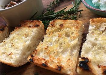 Mushroom & Herbed Cheese Bruschetta
