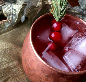 Cranberry Vodka Moscow Mule