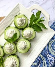 Cucumber Cups with Whipped Feta & Dill
