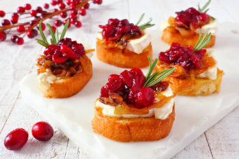 Orange Cranberry Brie Crostini Appetizers