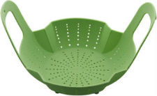 Green Silicone Instant Pot Steamer Basket with Handles