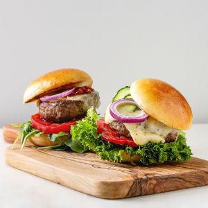 Homemade hamburger patties