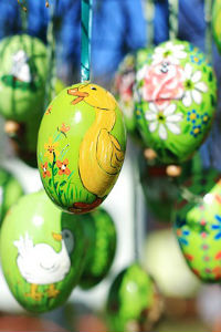 Decorated Dyed Easter Eggs