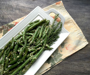 Oven-Roasted Parmesan Green Bean Side Dish