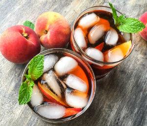 Peach Iced Tea with Ginger