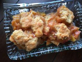 Warm Peach Cobbler