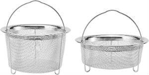 Stainless Steel Mesh Stackable Steamer Basket Set