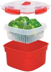 easily steam vegetables in microwave